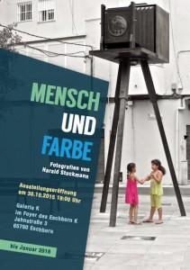 """Ausstellungsplakat """"Mensch und Farbe"""""""