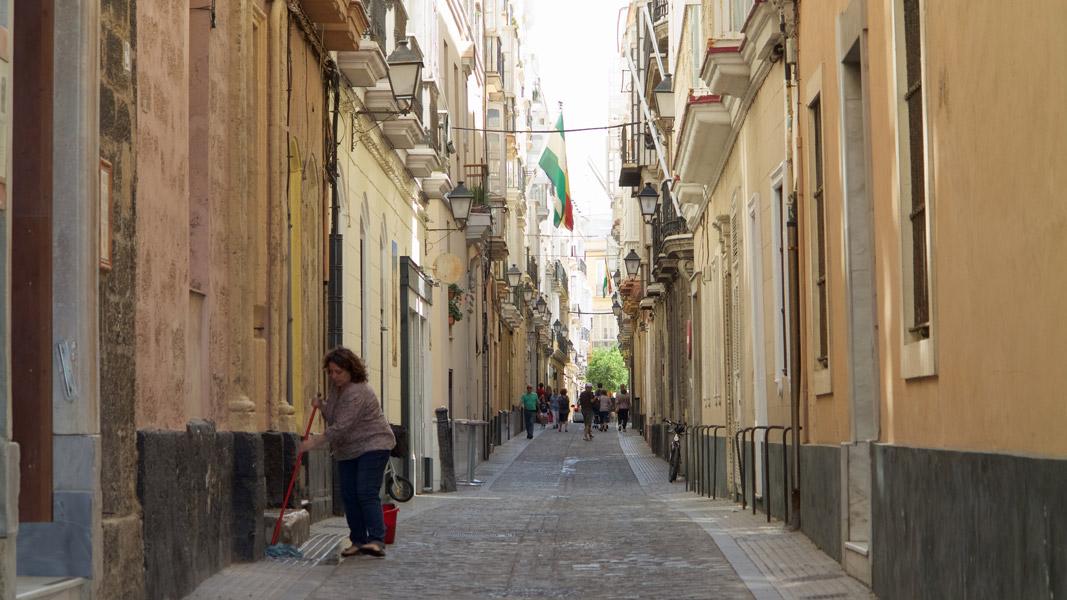 Cádiz: Altstadtstraße
